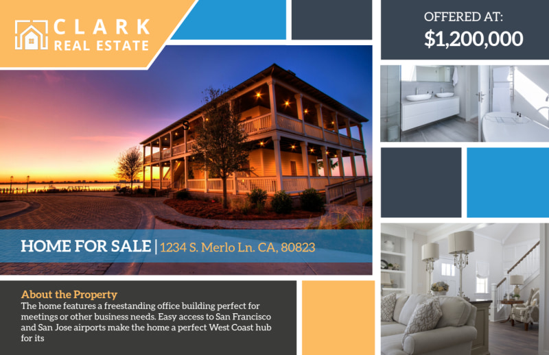 Merlo Home For Sale Postcard Template Preview 2