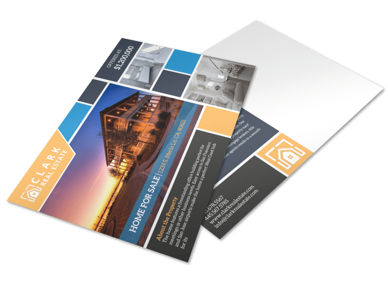 Merlo Home For Sale Postcard Template Preview 1