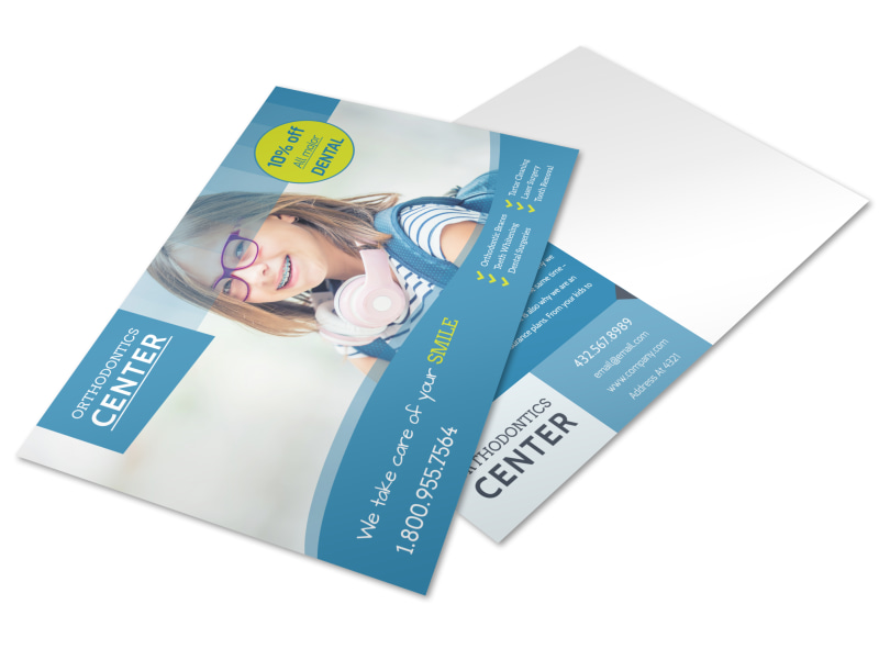 Promotional Dental Postcard Template Preview 4
