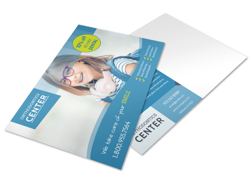 Promotional Dental Postcard Template Preview 1