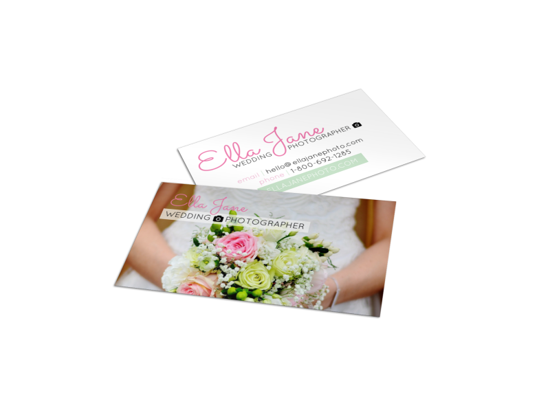 Ella Jane Wedding Photography Business Card Template Preview 1