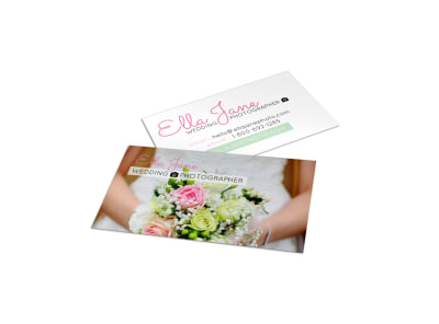 Ella Jane Wedding Photography Business Card Template preview