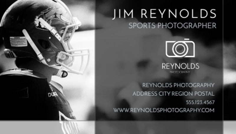 Action Sports Photography Business Card Template Preview 2