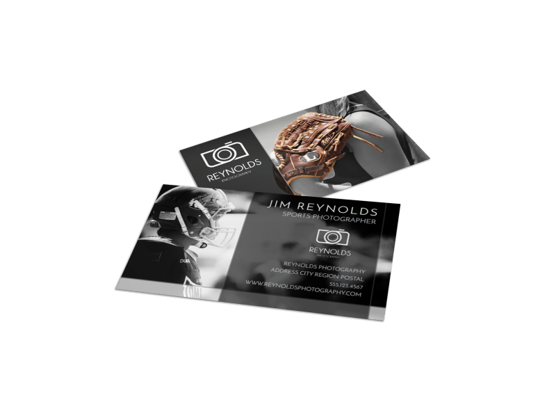 Action Sports Photography Business Card Template Preview 1