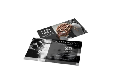 Action Sports Photography Business Card Template preview