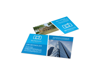 Real Estate Photography Business Card Template