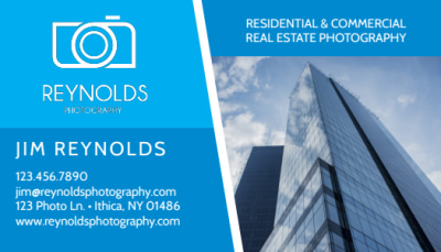 Real Estate Photography Business Card Template Preview 1