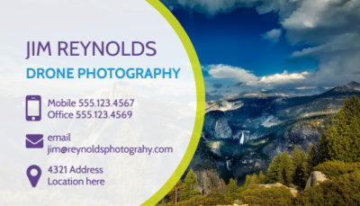 Drone Photography Business Card Template Preview 1