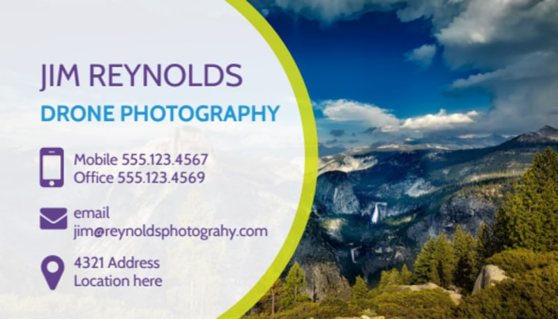 Drone Photography Business Card Template Preview 2