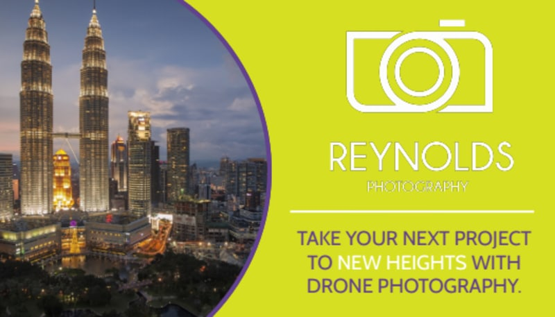 Drone Photography Business Card Template Preview 3