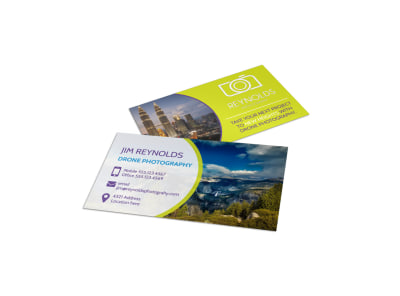 Drone Photography Business Card Template preview