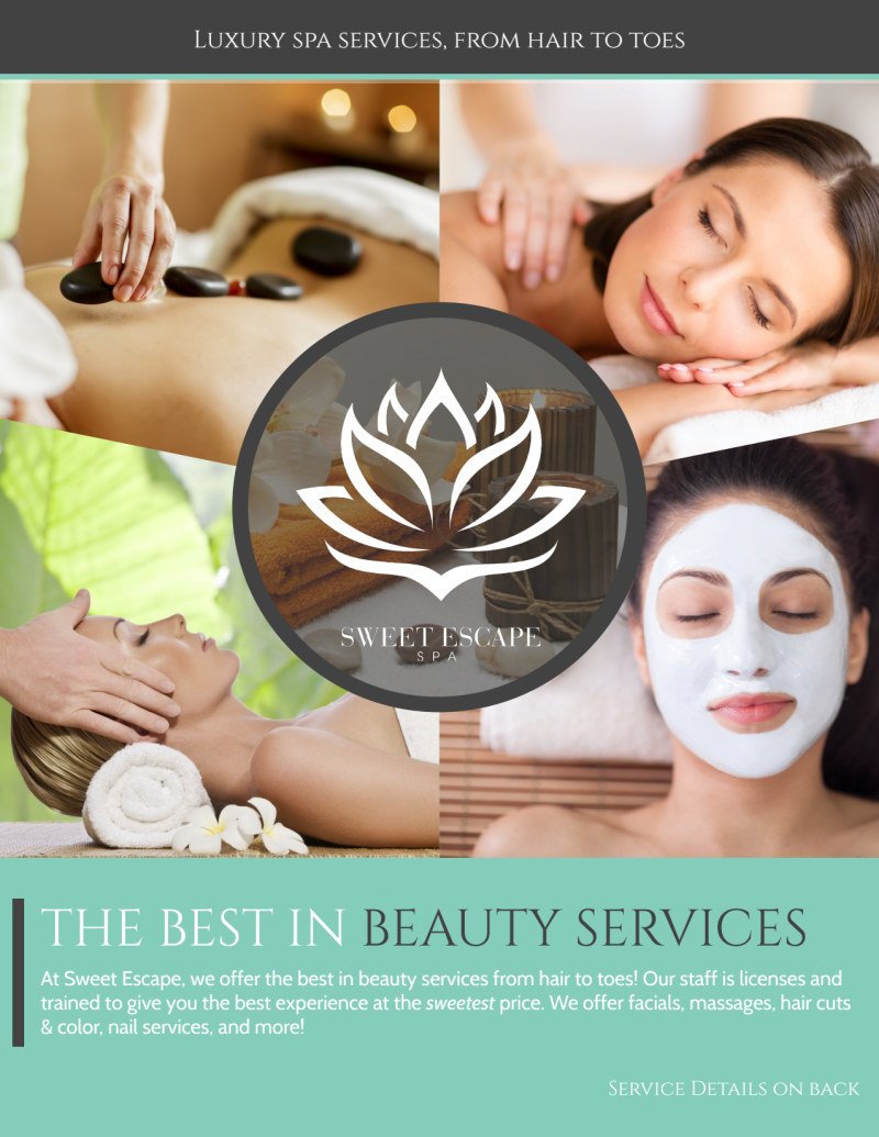 Best In Beauty Services Flyer Template Preview 2