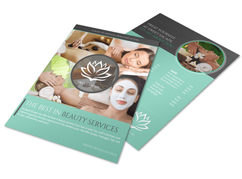Best In Beauty Services Flyer Template Preview 1