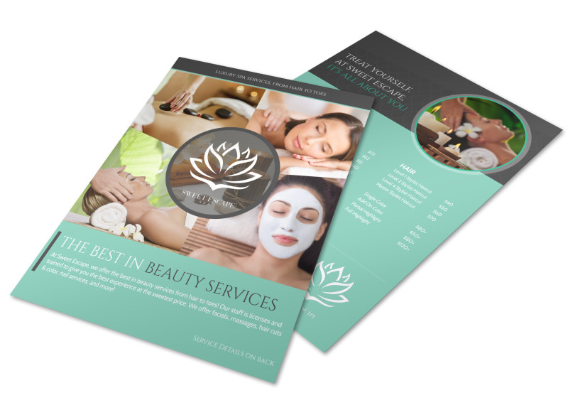 Best In Beauty Services Flyer Template Preview 4