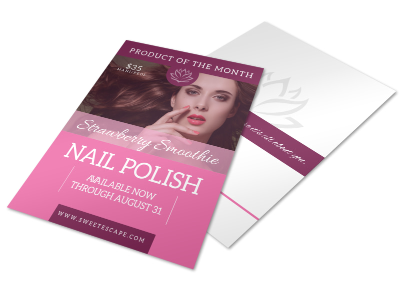 Strawberry Nail Polish Flyer Template