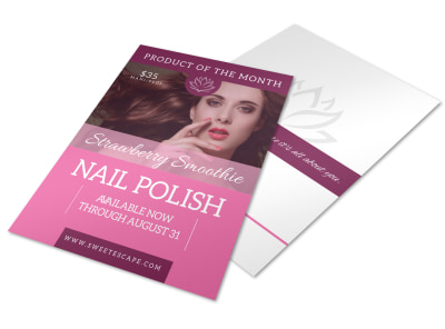 Strawberry Nail Polish Flyer Template preview