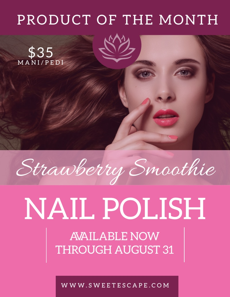 Strawberry Nail Polish Flyer Template Preview 2