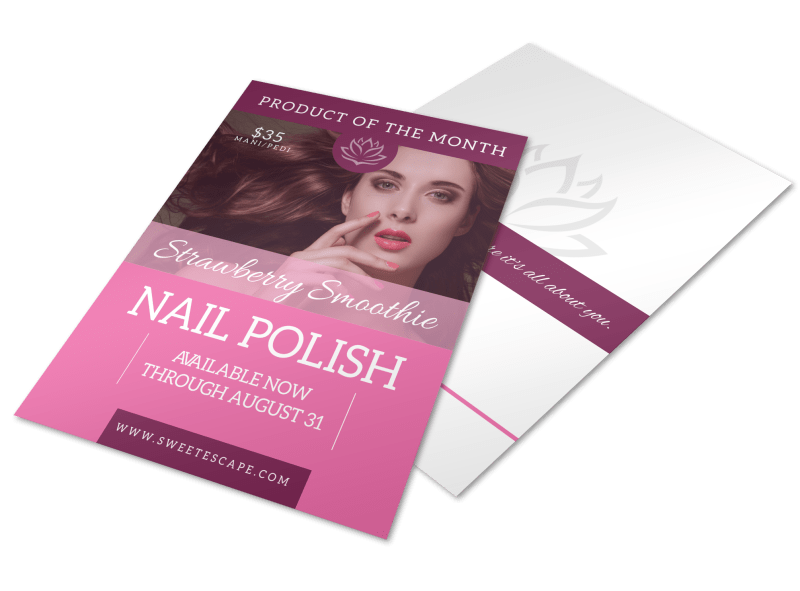 Strawberry Nail Polish Flyer Template Preview 1