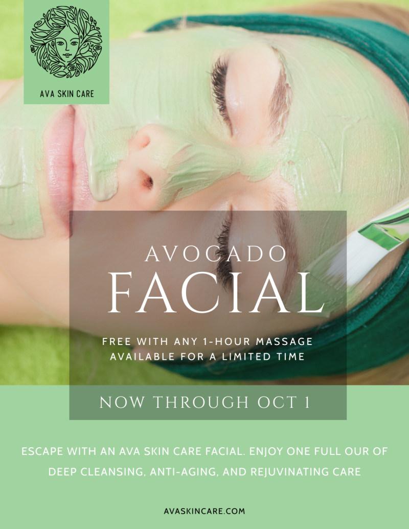 Avocado Facial Flyer Template Preview 2