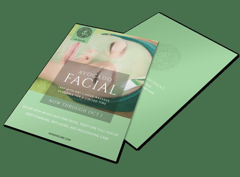 Avocado Facial Flyer Template Preview 1