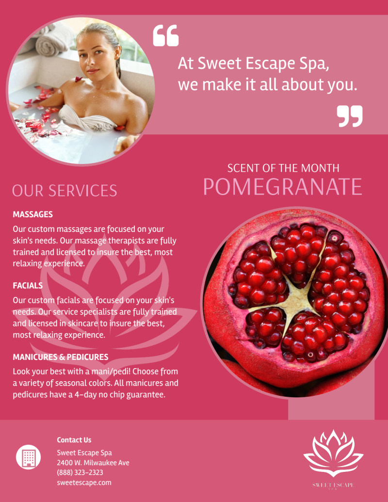 Mothers Day Spa Specials Flyer Template Preview 3