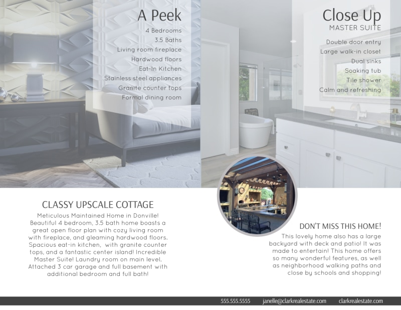 Park Drive Open House Bi-Fold Brochure Template Preview 3