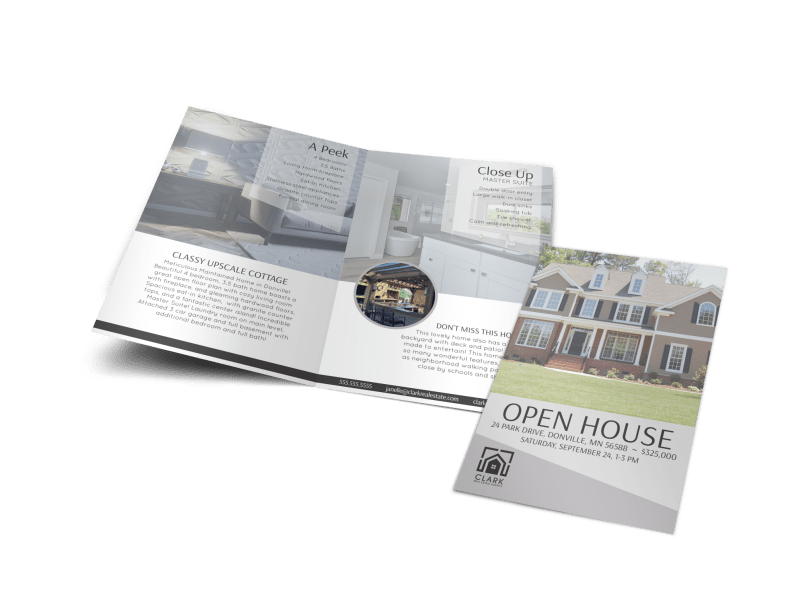 Park Drive Open House Bi-Fold Brochure Template Preview 1