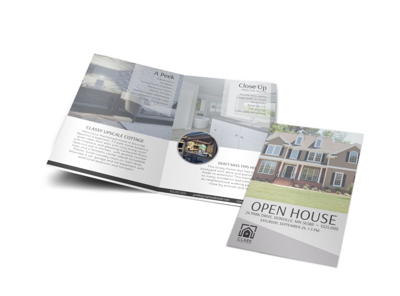 Park Drive Open House Bi-Fold Brochure Template Preview 4
