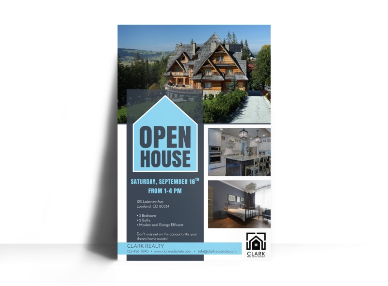 Loveland Open House Poster Template MyCreativeShop - Open house ad template