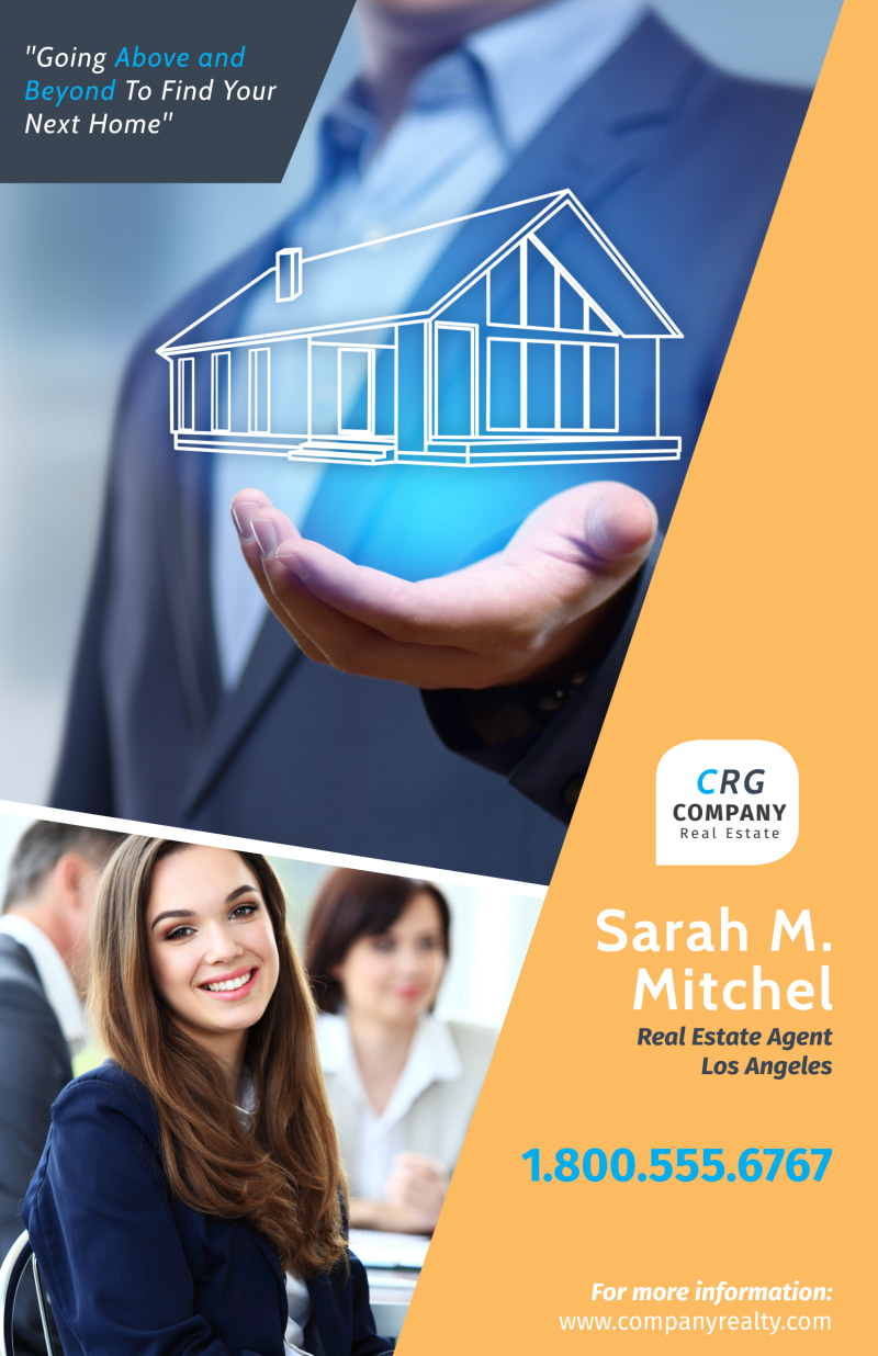 Featured Real Estate Agent Poster Template Preview 2