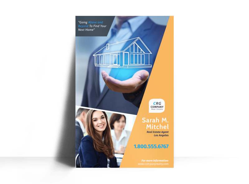 Featured Real Estate Agent Poster Template Preview 1