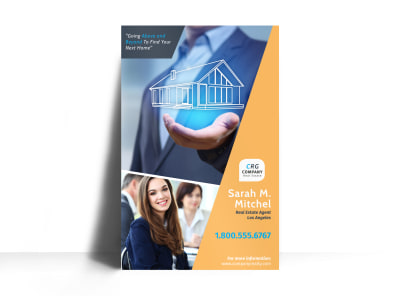 Featured Real Estate Agent Poster Template preview