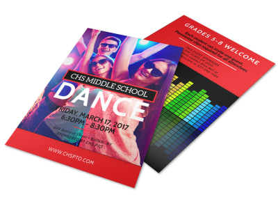 Middle School Dance Flyer Template preview