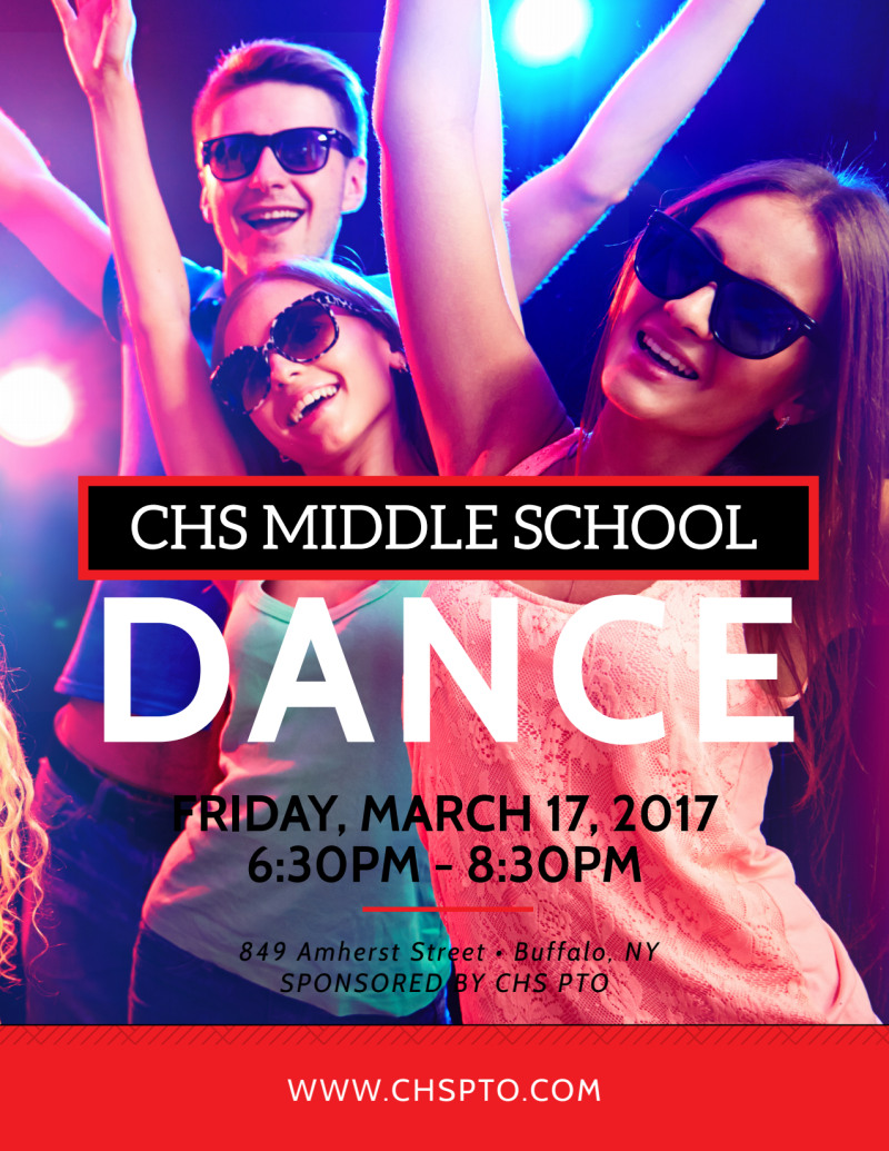 Middle School Dance Flyer Template Preview 2