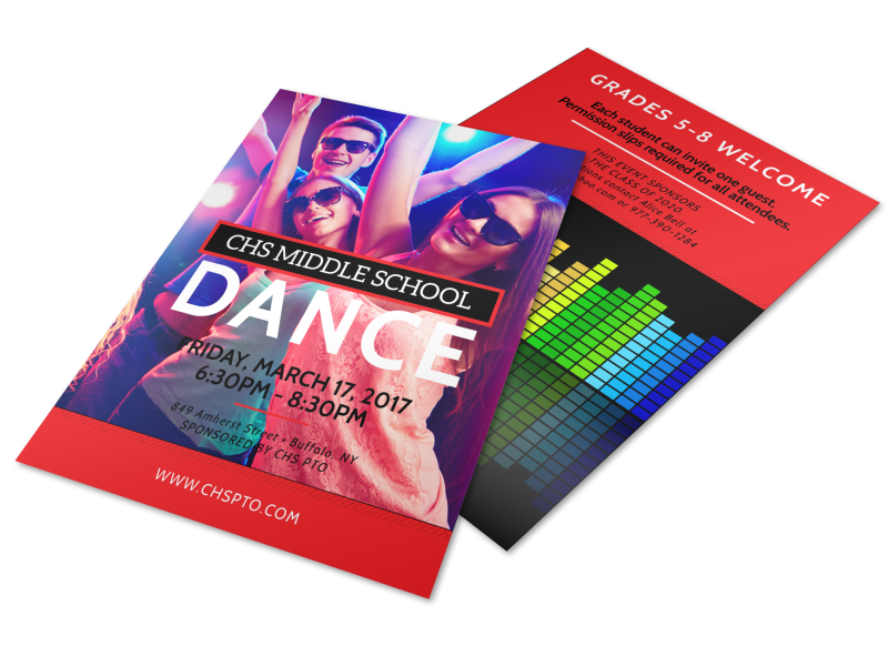 Middle School Dance Flyer Template Preview 1