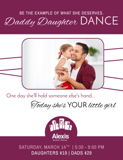 Father Daughter Dance Flyer Template Preview 1