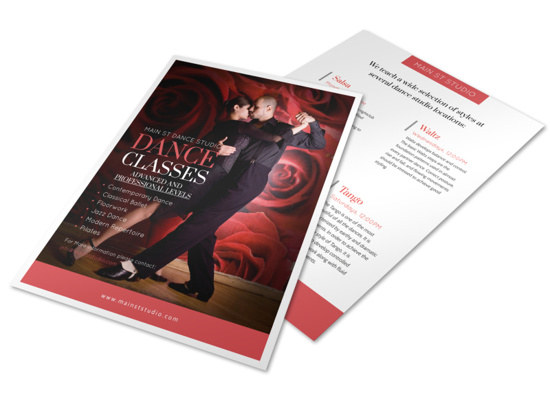 Main Street Dance Class Flyer Template Mycreativeshop