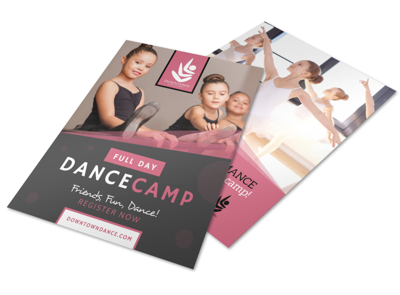 Full Day Dance Camp Flyer Template MyCreativeShop