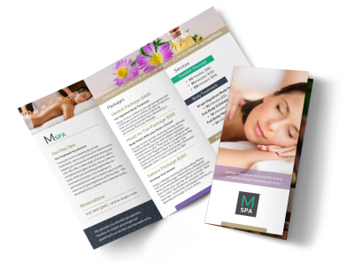 Spa Package Details Tri-Fold Brochure Template
