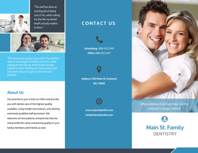 Dental About Us Tri-Fold Brochure Template Preview 1