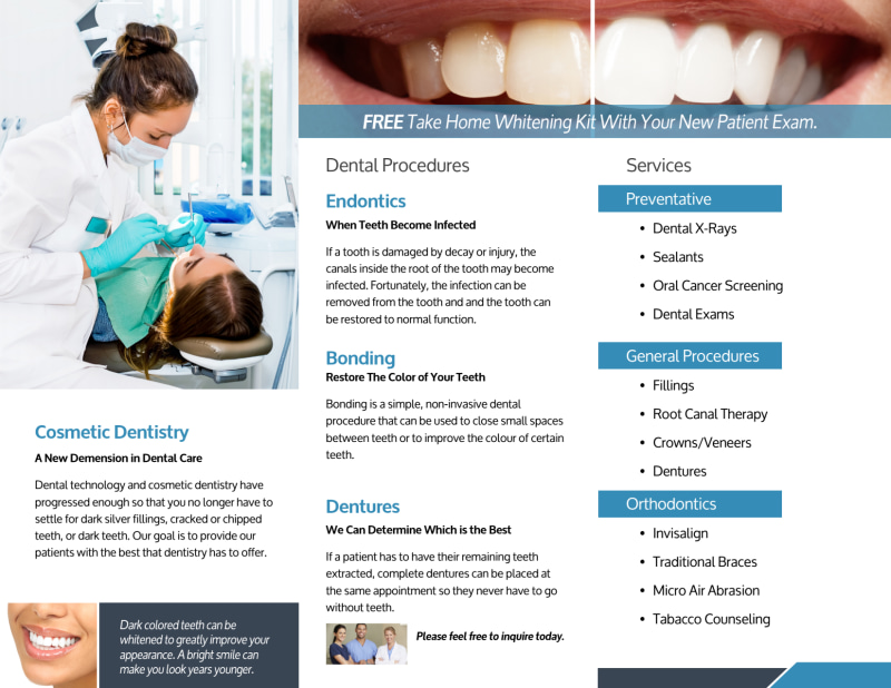 Dental About Us Tri-Fold Brochure Template Preview 3