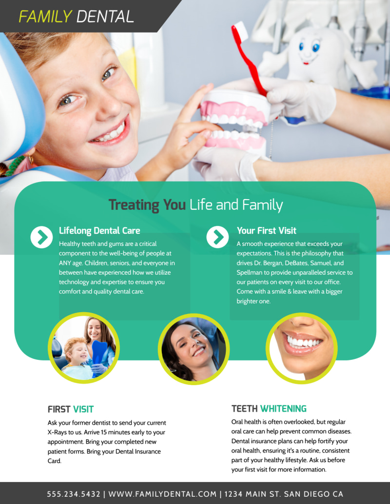 Brighter Smile Dental Teeth Whitening Flyer Template Preview 3