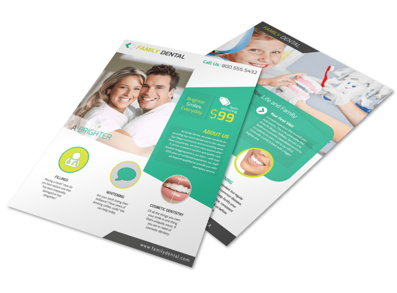 Brighter Smile Dental Teeth Whitening Flyer Template Preview 1