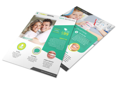 Brighter Smile Dental Teeth Whitening Flyer Template preview