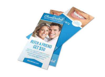 Refer A Friend Dental Flyer Template