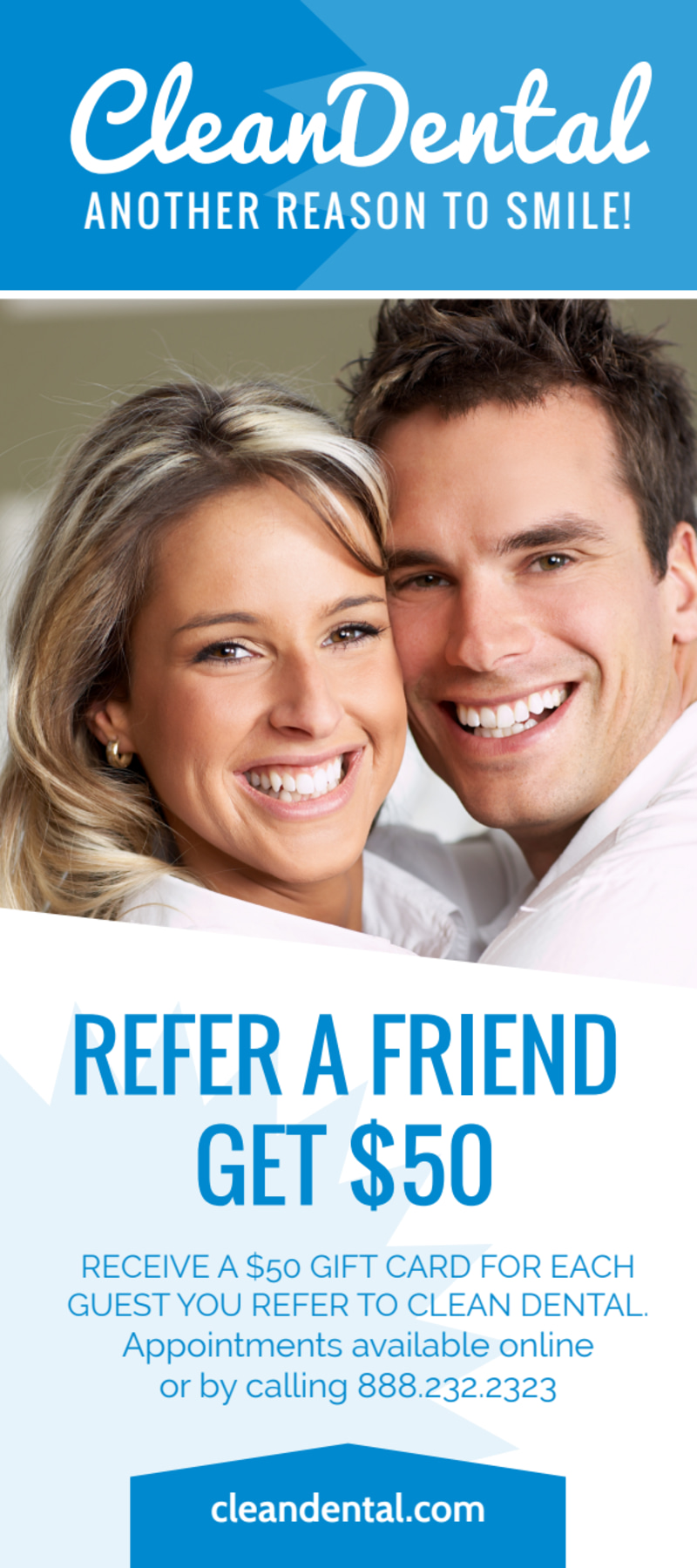 Refer A Friend Dental Flyer Template Preview 2