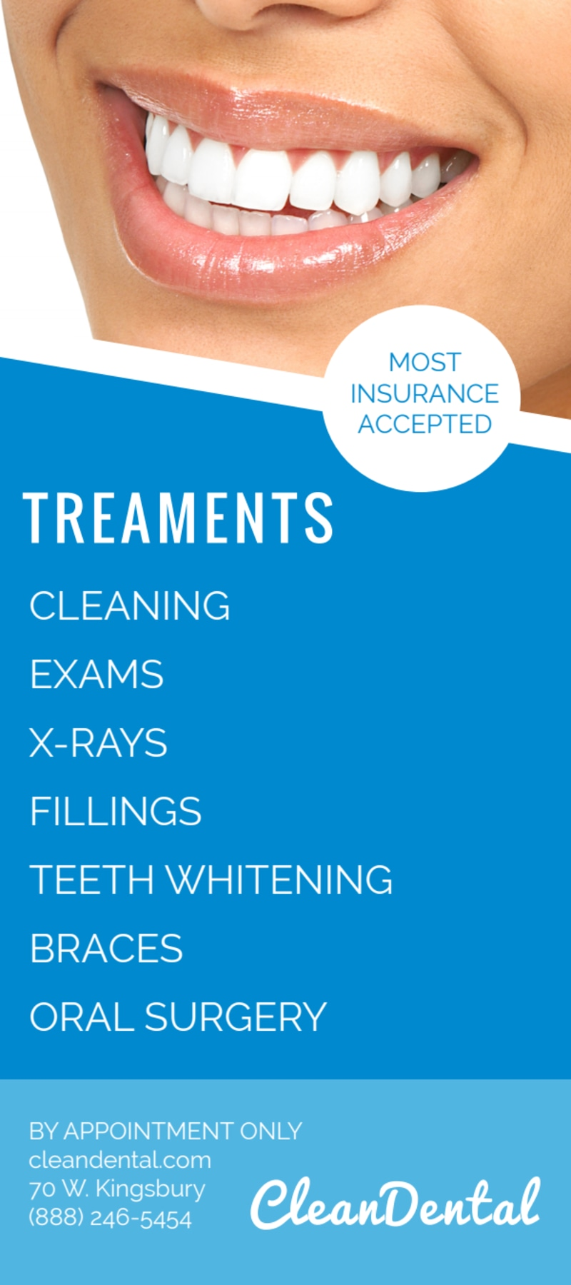 Refer A Friend Dental Flyer Template Preview 3
