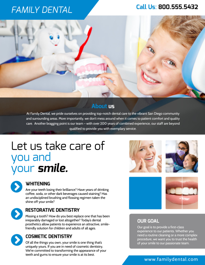 Dental Clinic About Us Flyer Template Preview 2