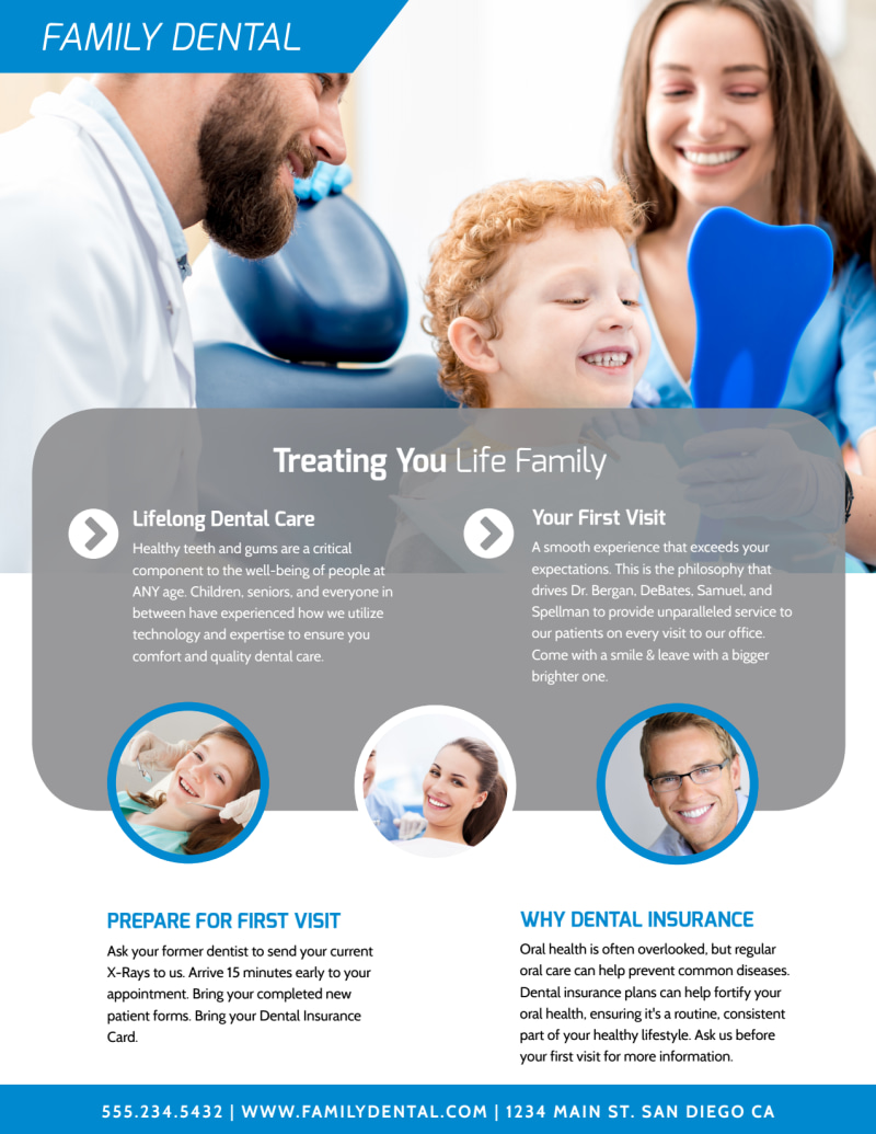 Dental Clinic About Us Flyer Template Preview 3
