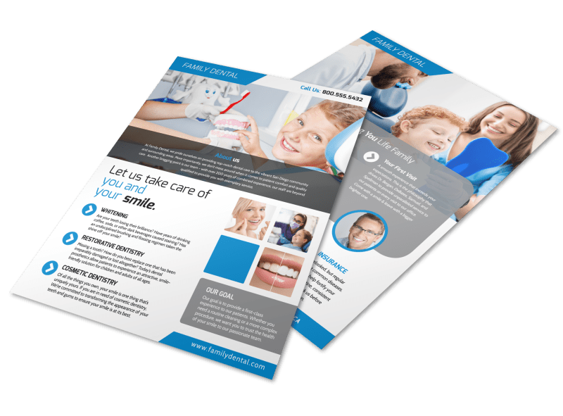 Dental Clinic About Us Flyer Template Preview 1